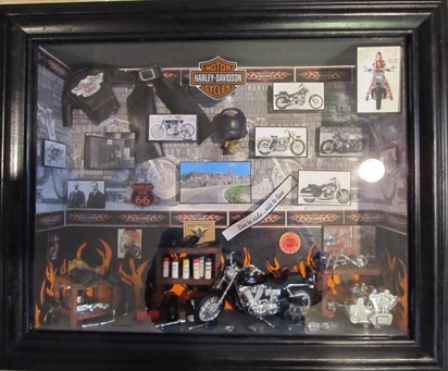 Harley Davidson Motorcycle Shadow Box Legends Of The