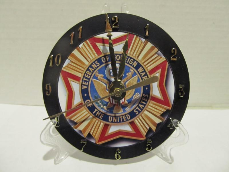 Veterans of Foreign Wars cd clock